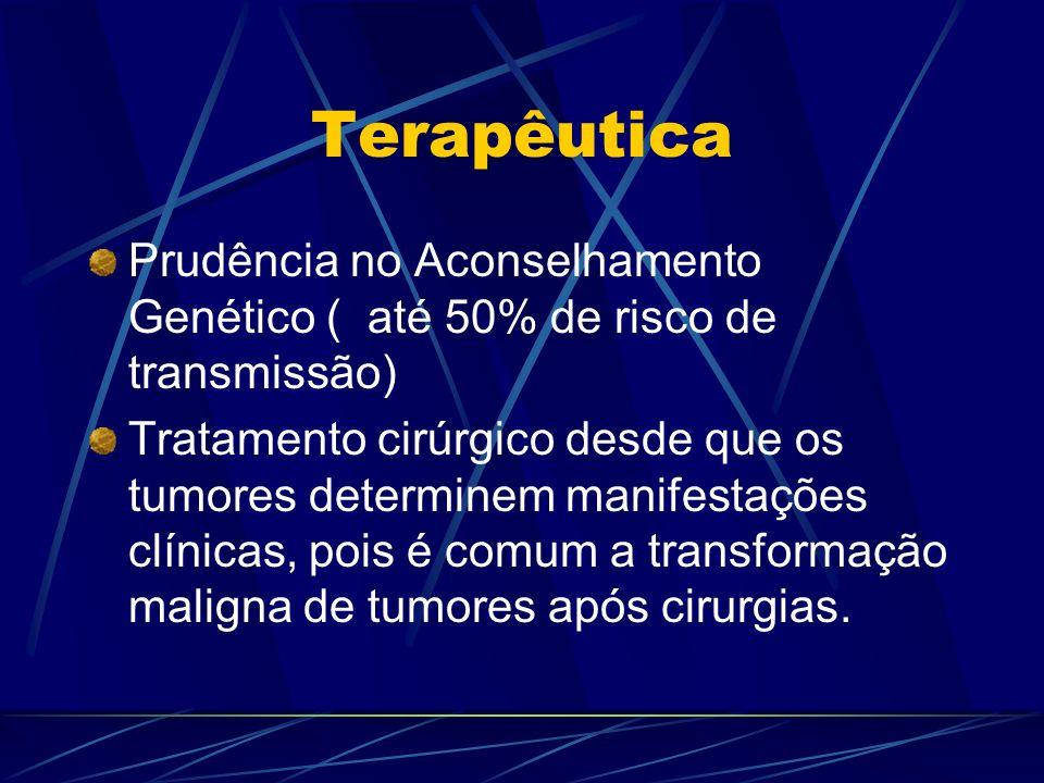 Terapêutica Prudência no Aconselhamento Genético ( até 50% de risco de transmissão)