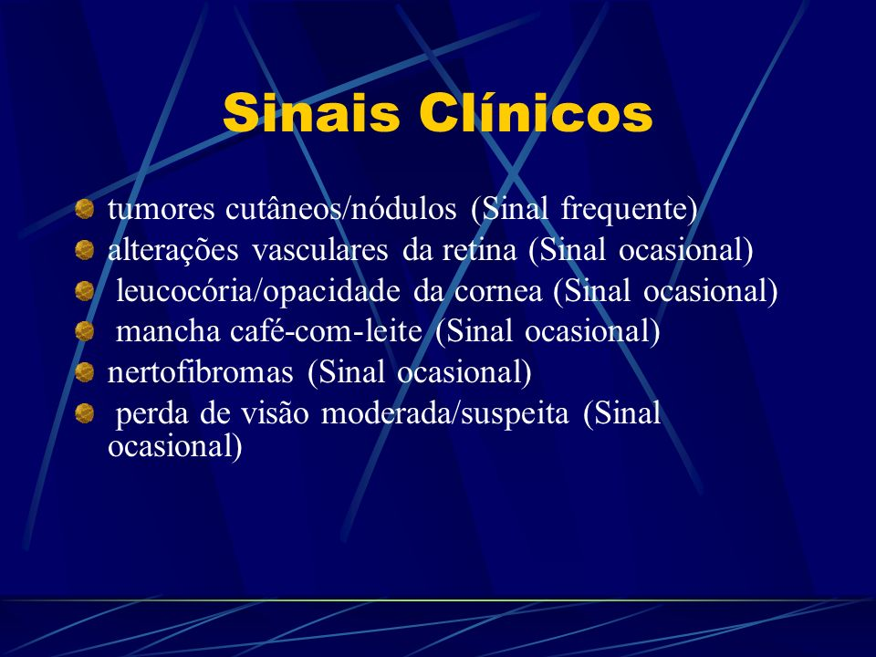 Sinais Clínicos tumores cutâneos/nódulos (Sinal frequente)