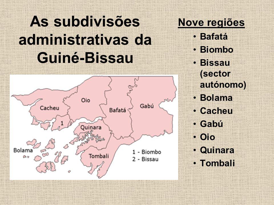 As subdivisões administrativas da Guiné-Bissau
