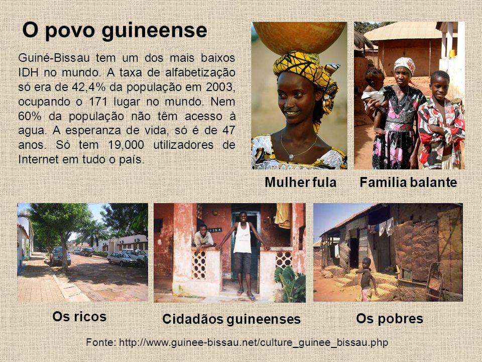 O povo guineense Mulher fula Familia balante Os ricos