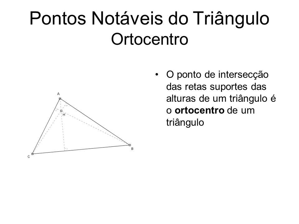 Pontos Notáveis do Triângulo Ortocentro