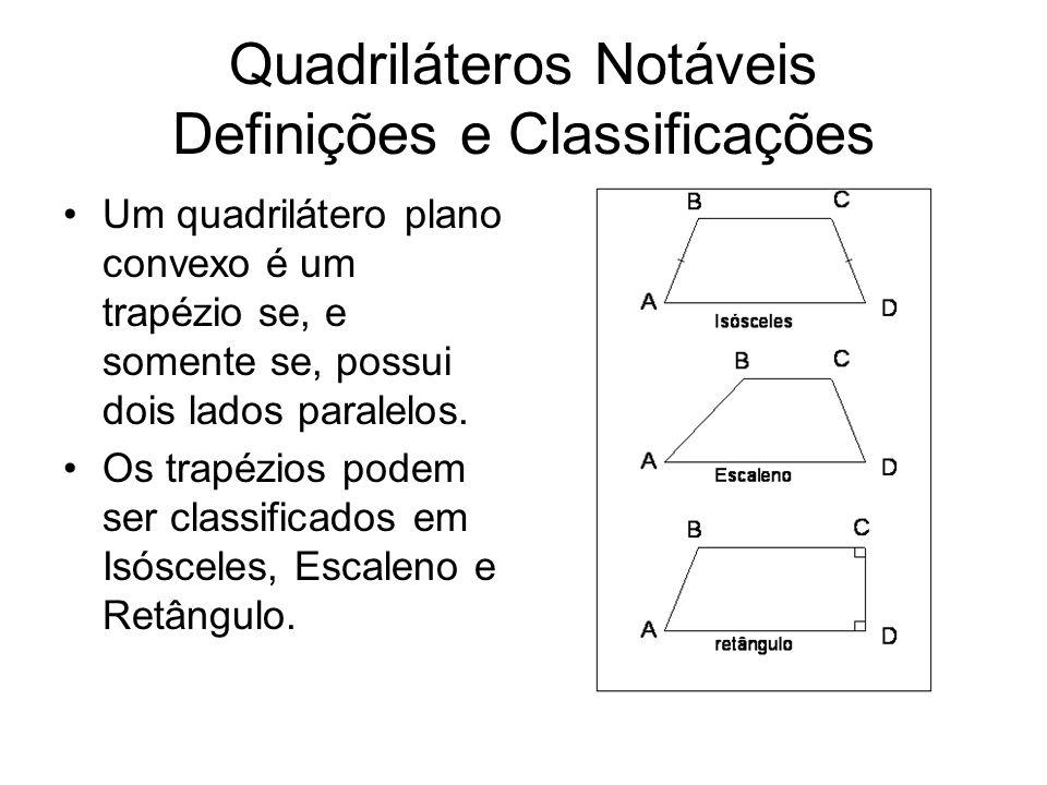 Quadriláteros Notáveis Definições e Classificações