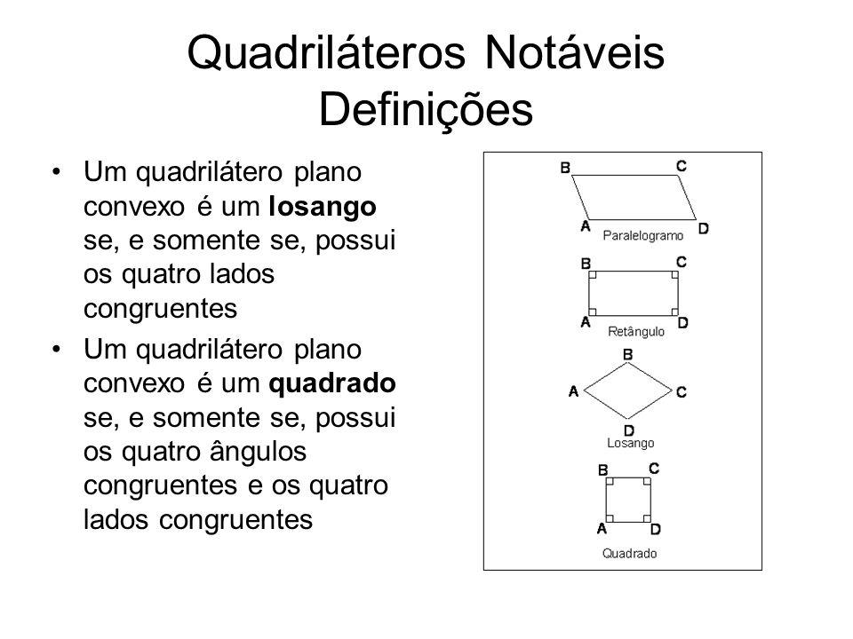 Quadriláteros Notáveis Definições