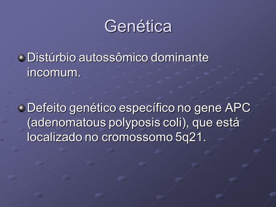 Genética Distúrbio autossômico dominante incomum.