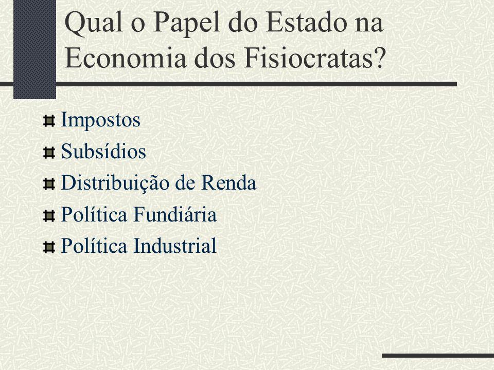 Qual o Papel do Estado na Economia dos Fisiocratas
