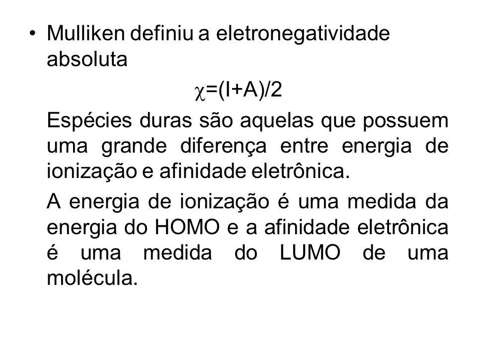 Mulliken definiu a eletronegatividade absoluta