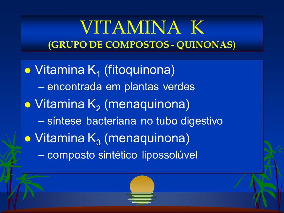 VITAMINA K (GRUPO DE COMPOSTOS - QUINONAS)