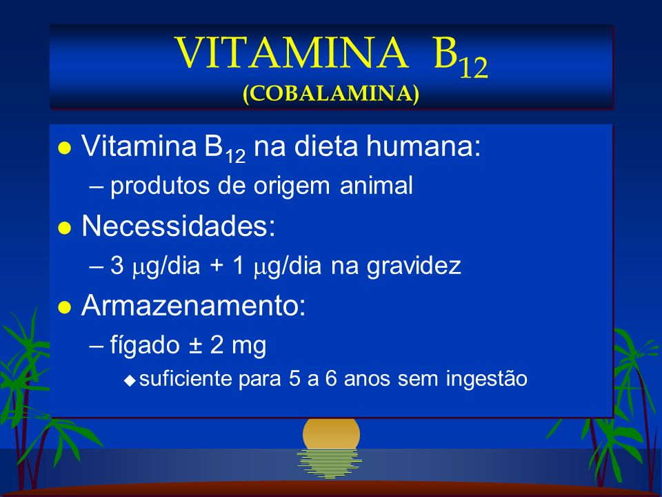 VITAMINA B12 (COBALAMINA)