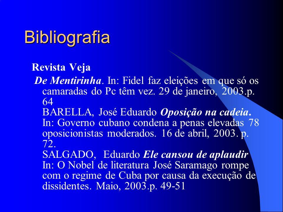 Bibliografia Revista Veja