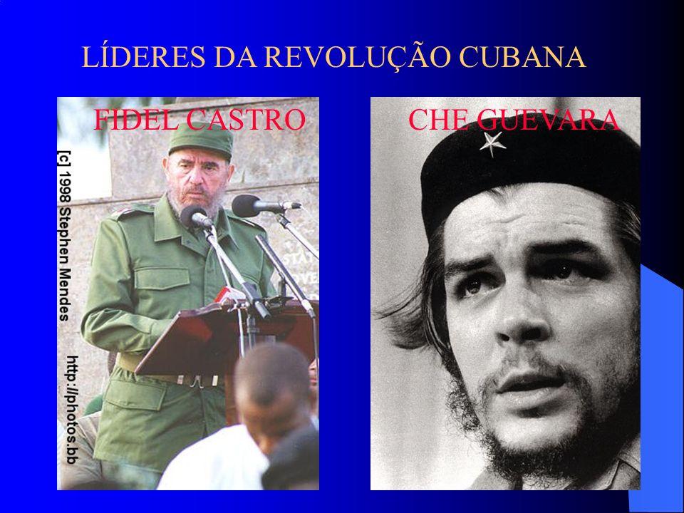LÍDERES DA REVOLUÇÃO CUBANA