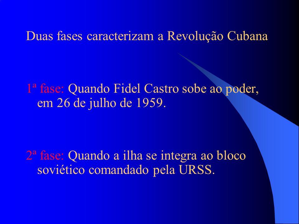 Duas fases caracterizam a Revolução Cubana