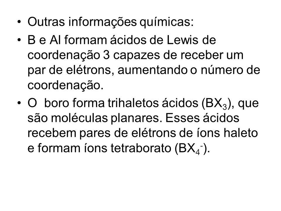 Outras informações químicas: