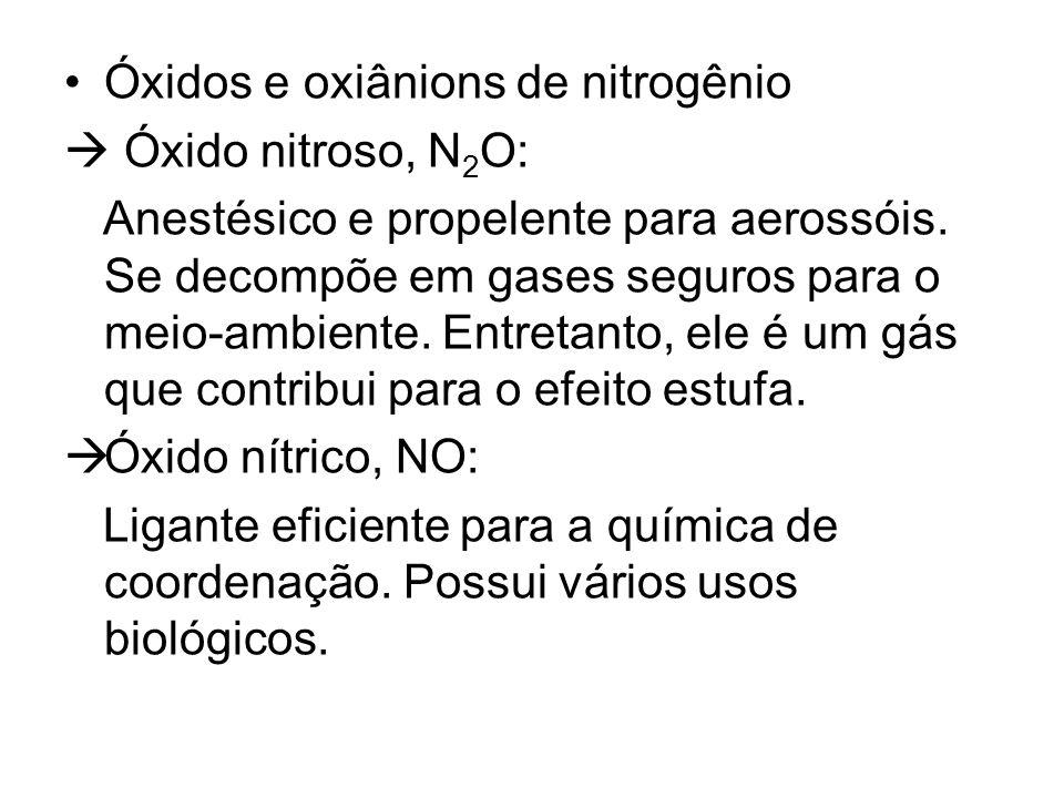Óxidos e oxiânions de nitrogênio
