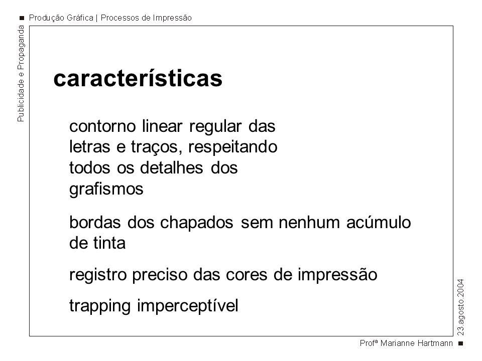 característicascontorno linear regular das letras e traços, respeitando todos os detalhes dos grafismos.