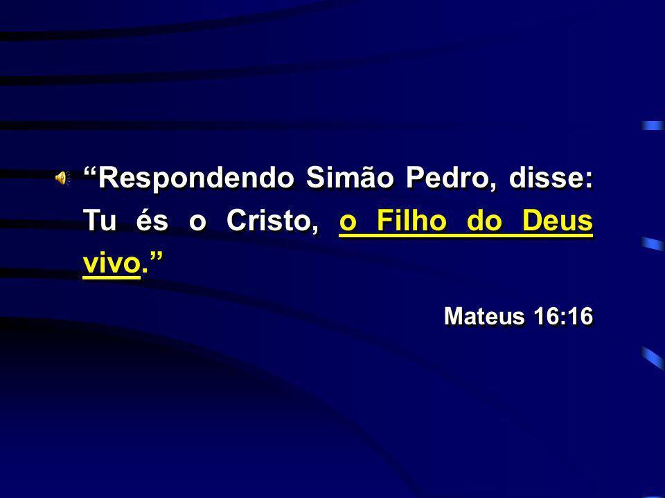 Respondendo Simão Pedro, disse: Tu és o Cristo, o Filho do Deus vivo