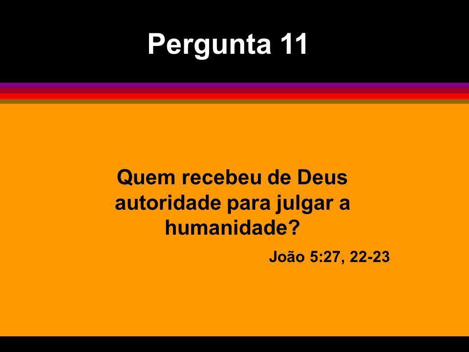 Quem recebeu de Deus autoridade para julgar a humanidade