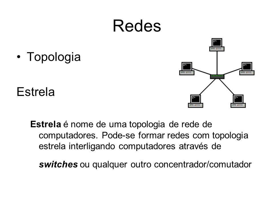 Redes Topologia Estrela