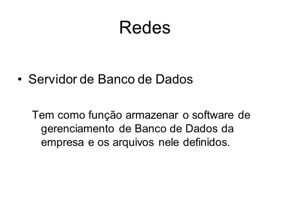 Redes Servidor de Banco de Dados