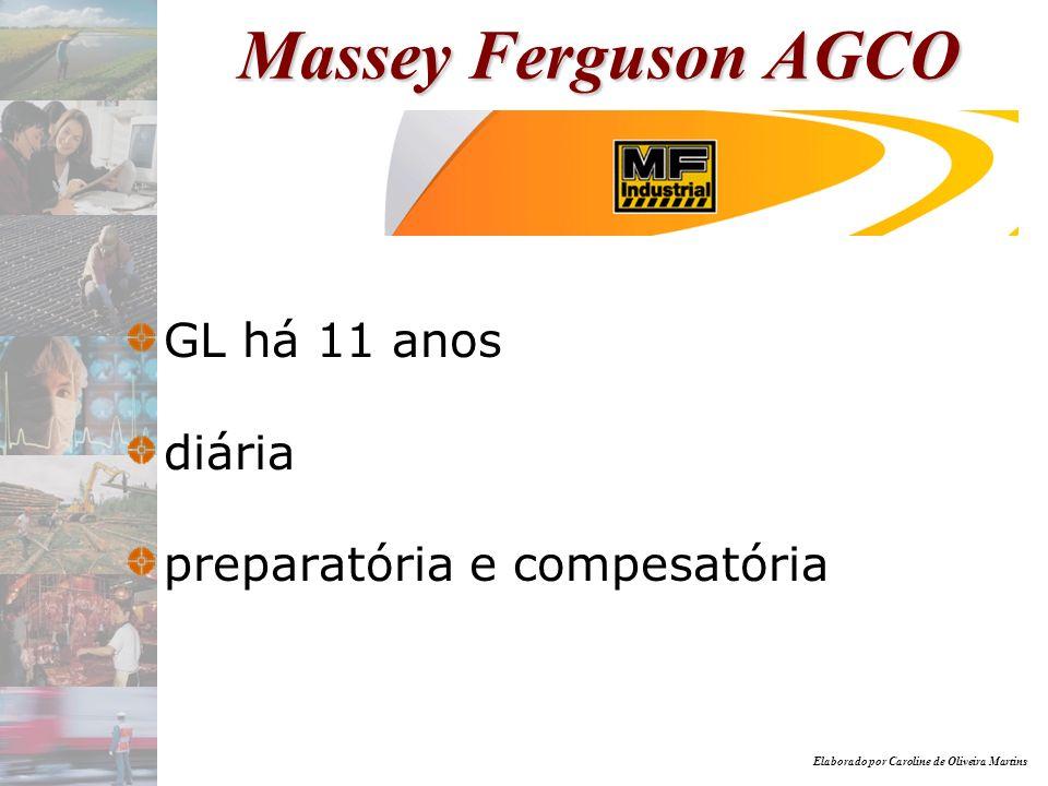 Massey Ferguson AGCO GL há 11 anos diária preparatória e compesatória