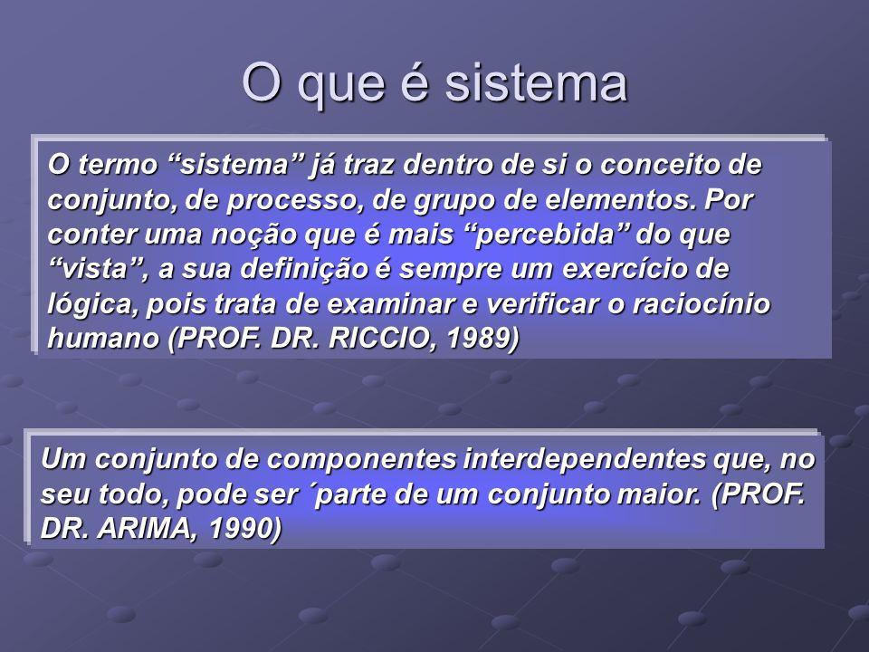 O que é sistema