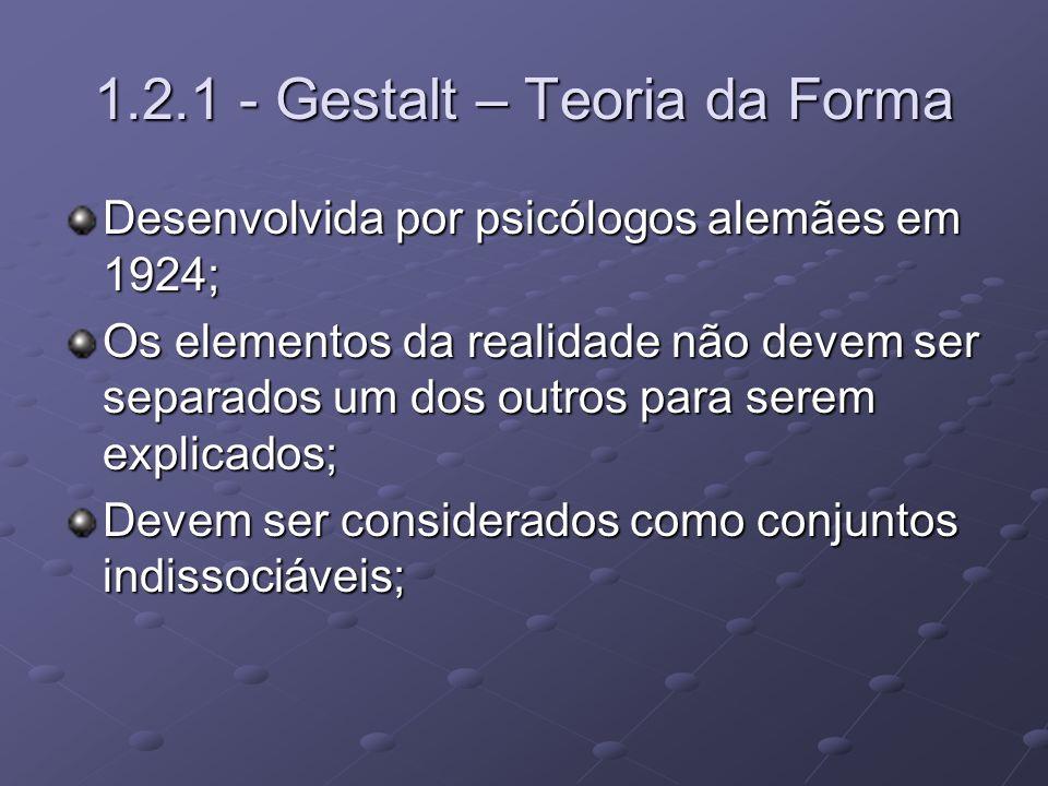 1.2.1 - Gestalt – Teoria da Forma