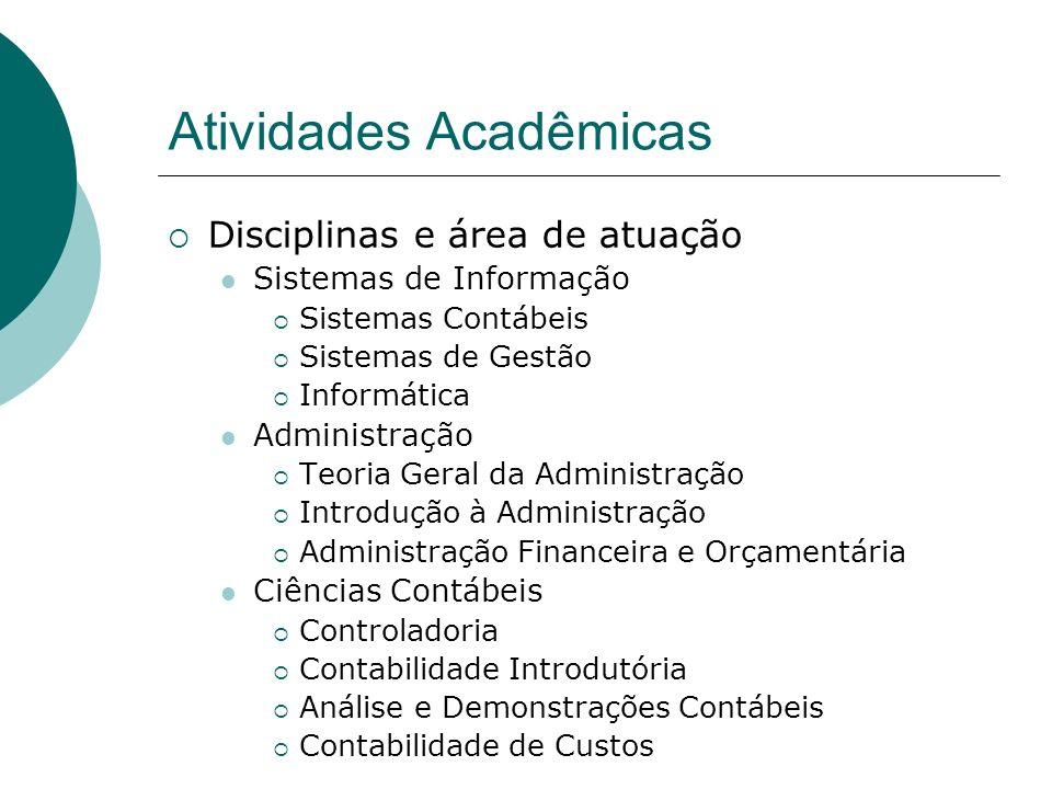 Atividades Acadêmicas