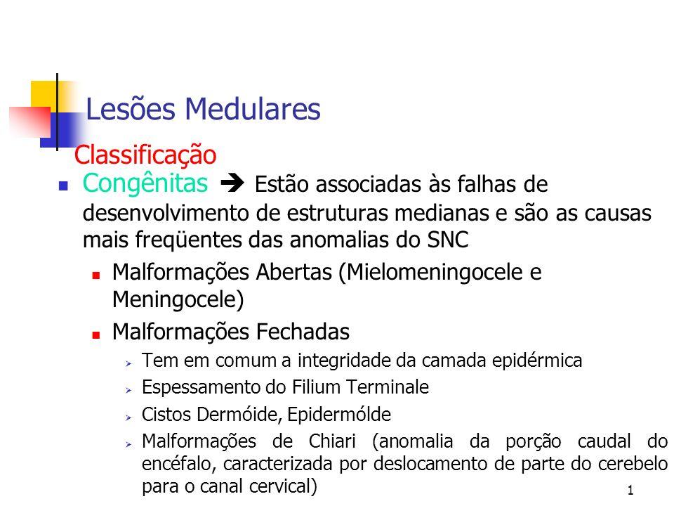 Lesões Medulares Classificação