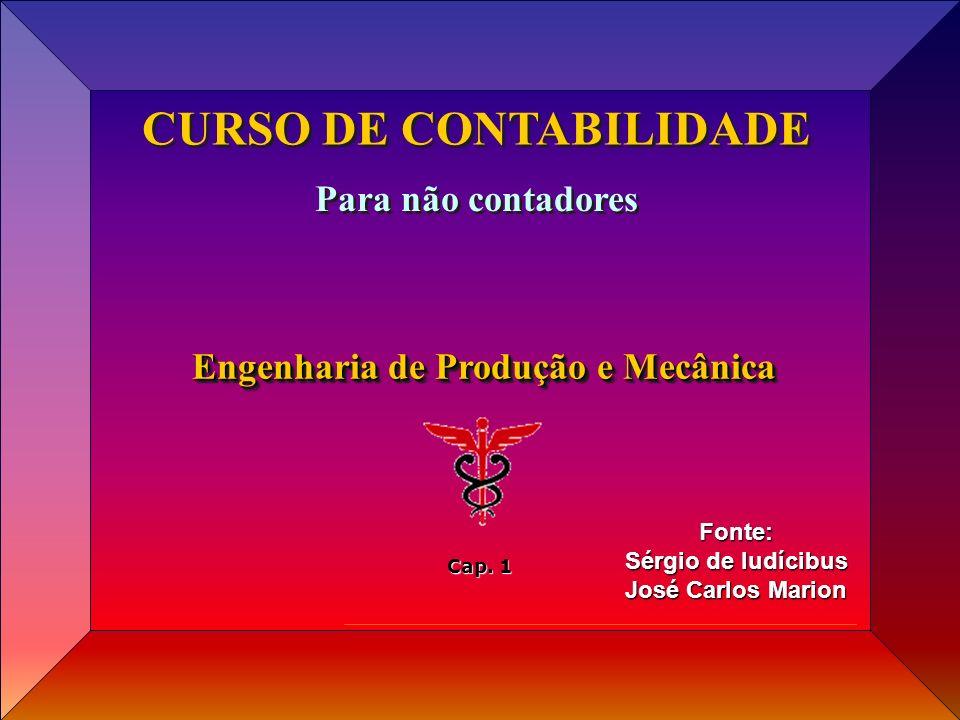 CURSO DE CONTABILIDADE Engenharia de Produção e Mecânica