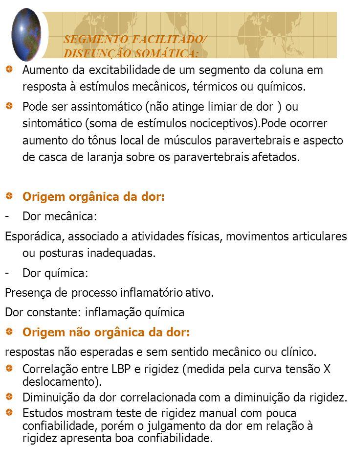 SEGMENTO FACILITADO/ DISFUNÇÃO SOMÁTICA: