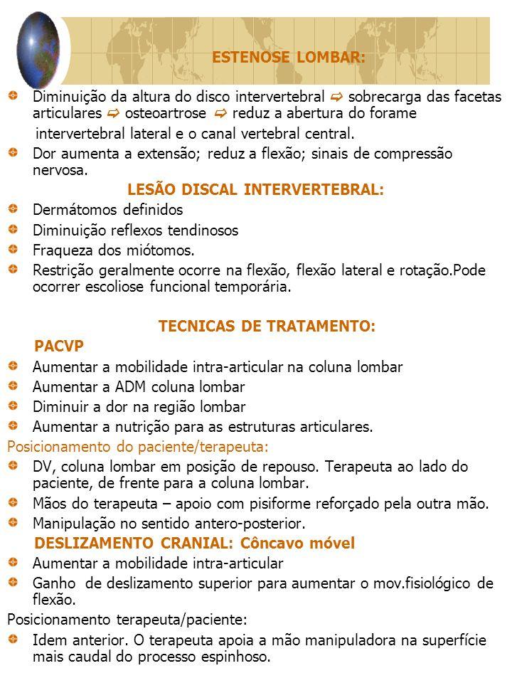 LESÃO DISCAL INTERVERTEBRAL: