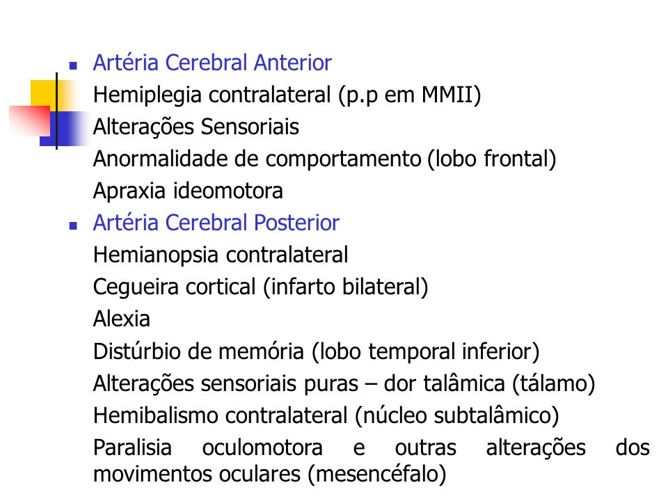 Artéria Cerebral Anterior