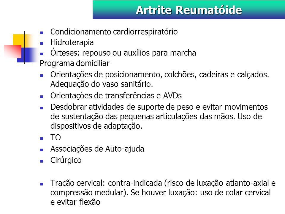 Artrite Reumatóide Condicionamento cardiorrespiratório Hidroterapia