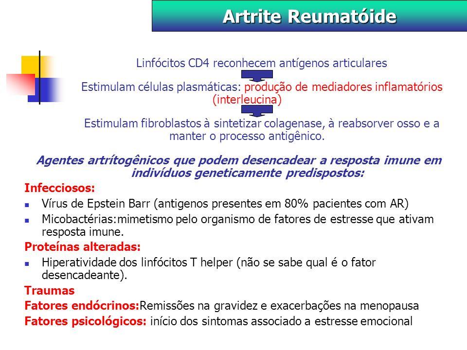 Linfócitos CD4 reconhecem antígenos articulares