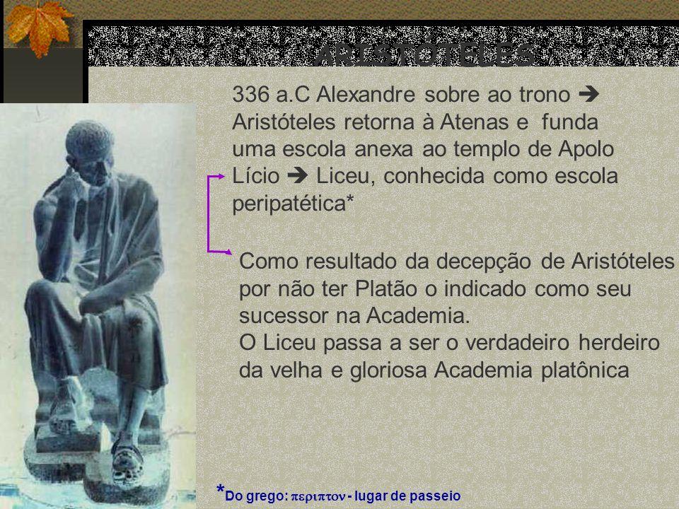 ARISTÓTELES 336 a.C Alexandre sobre ao trono 