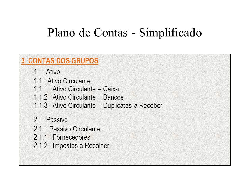 Plano de Contas - Simplificado