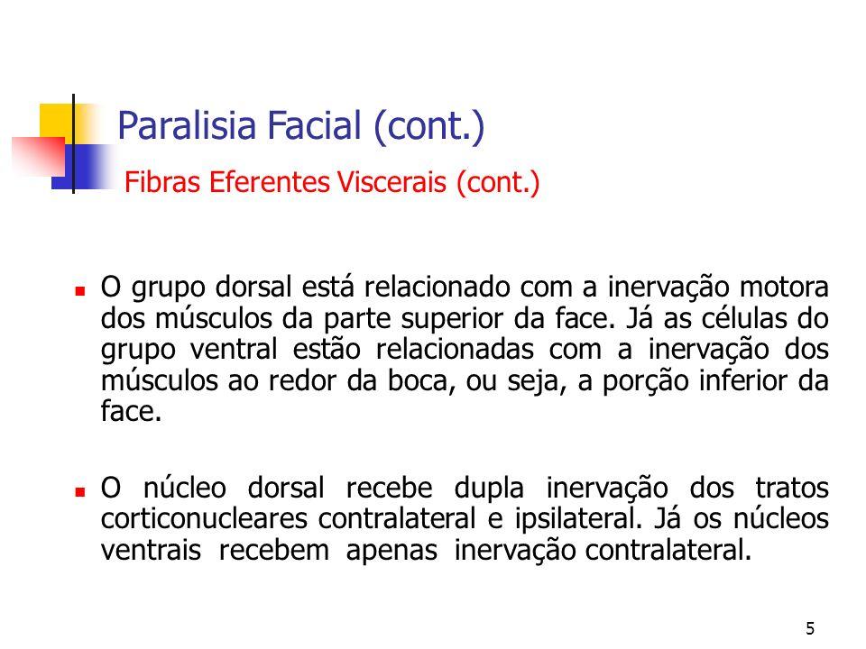 Paralisia Facial (cont.)