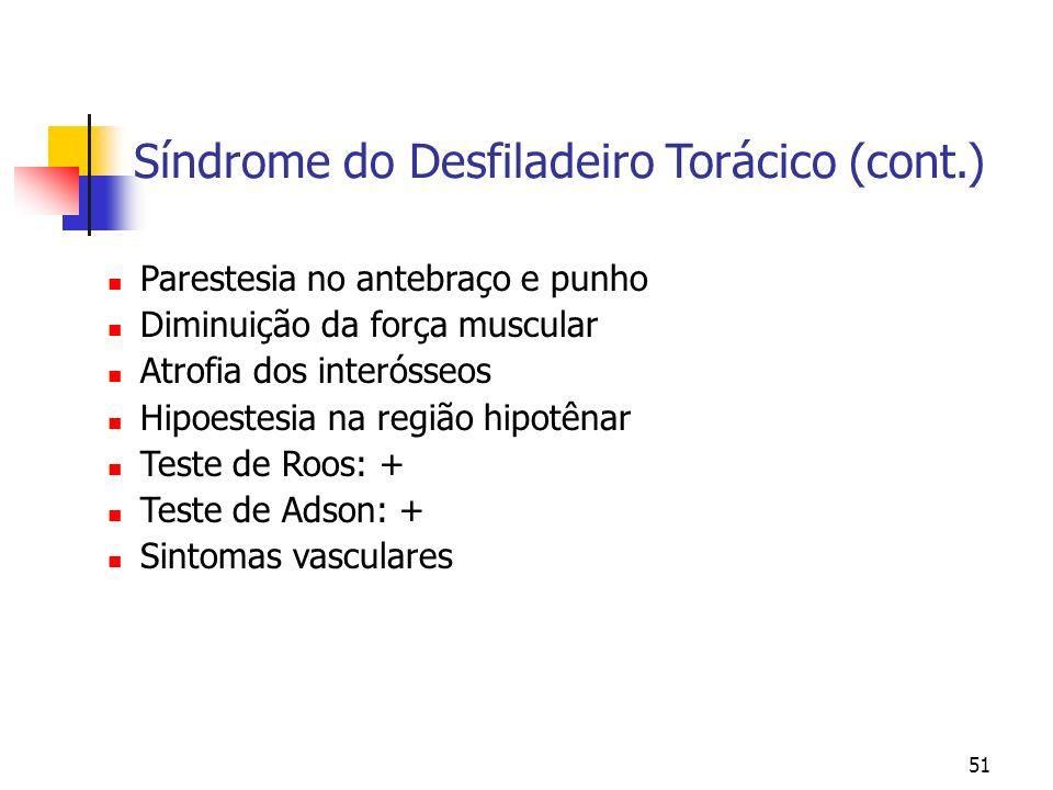 Síndrome do Desfiladeiro Torácico (cont.)