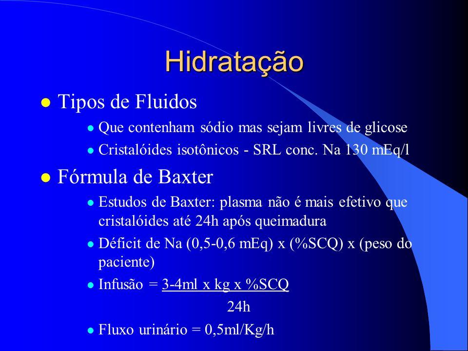 Hidratação Tipos de Fluidos Fórmula de Baxter