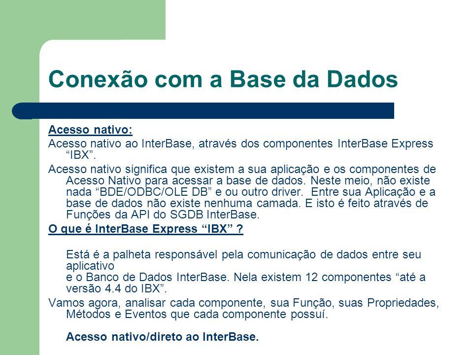 Conexão com a Base da Dados