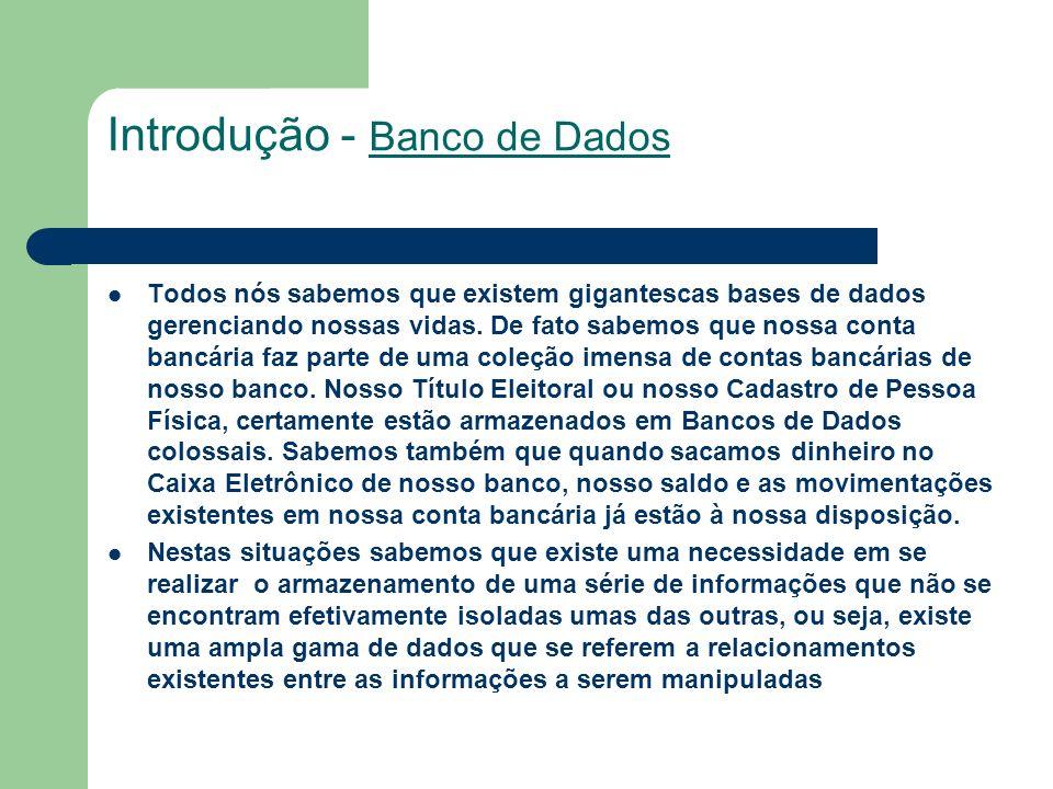 Introdução - Banco de Dados