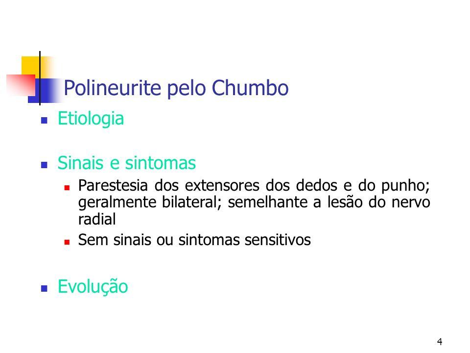 Polineurite pelo Chumbo