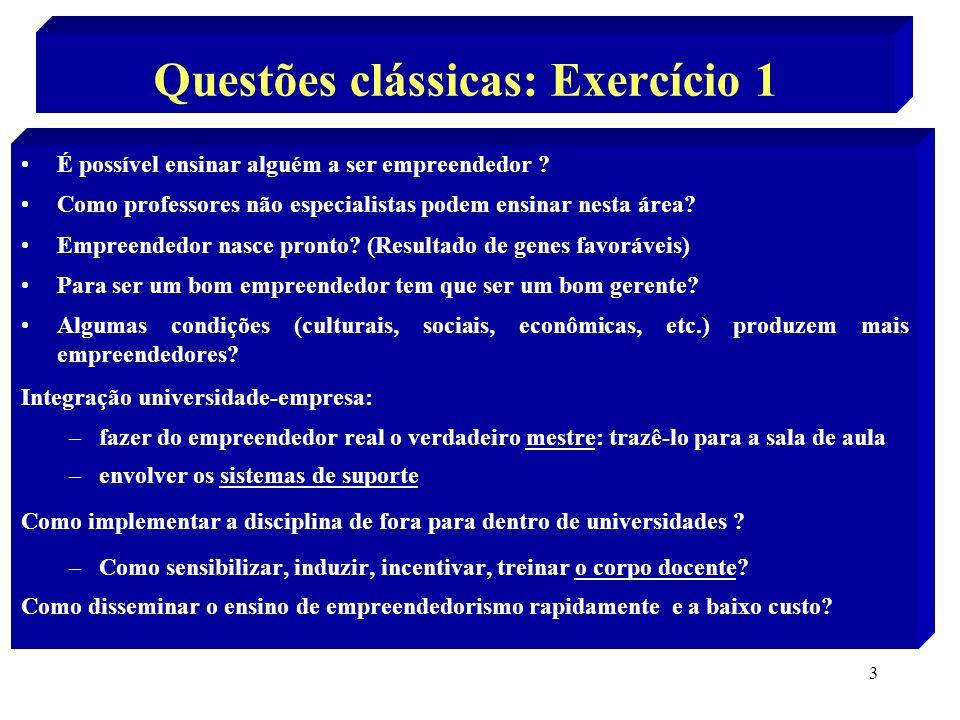 Questões clássicas: Exercício 1