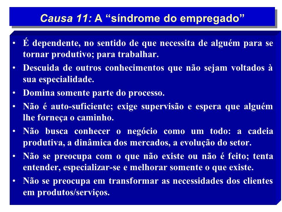 Causa 11: A síndrome do empregado