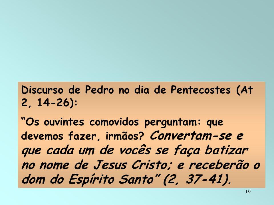 Discurso de Pedro no dia de Pentecostes (At 2, 14-26):