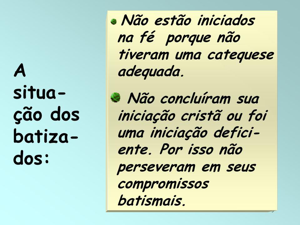 A situa-ção dos batiza-dos: