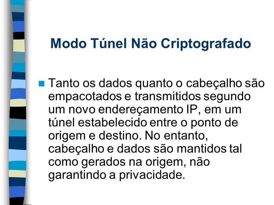 Modo Túnel Não Criptografado