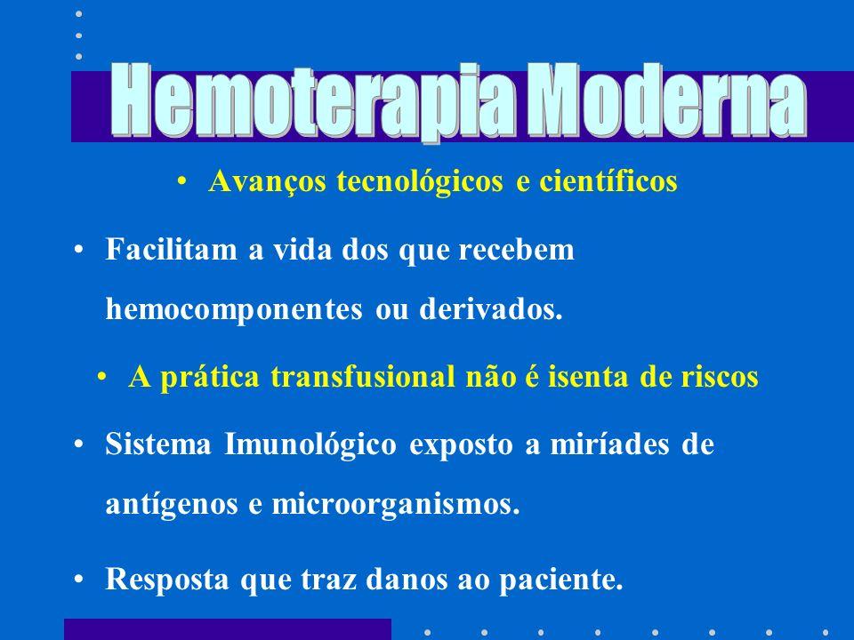 Hemoterapia Moderna Avanços tecnológicos e científicos