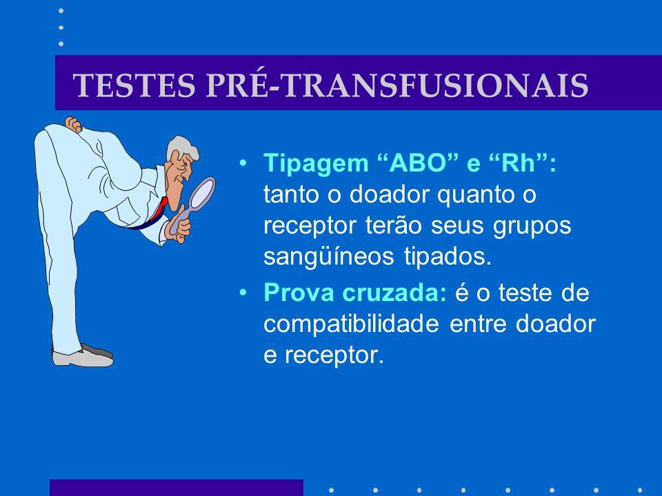 TESTES PRÉ-TRANSFUSIONAIS