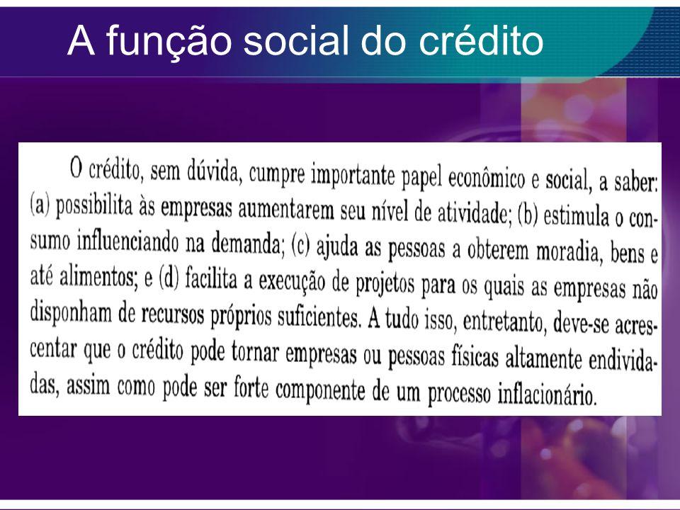 A função social do crédito