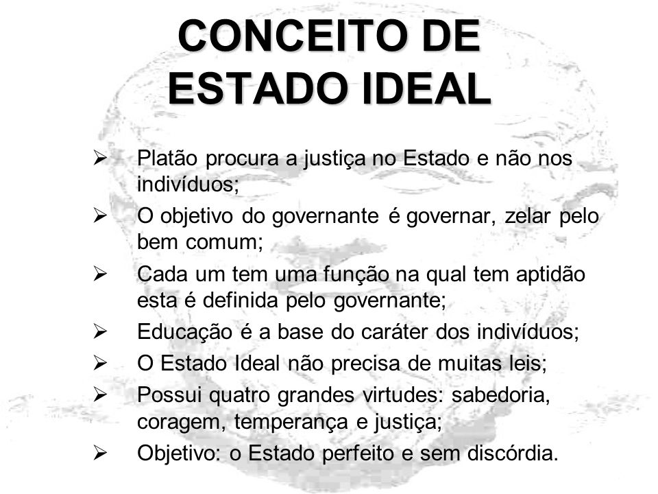 CONCEITO DE ESTADO IDEAL